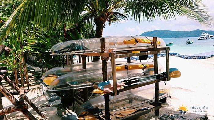 พายเรือแคนนูใสที่บานาน่าบีช กาฮังบีช